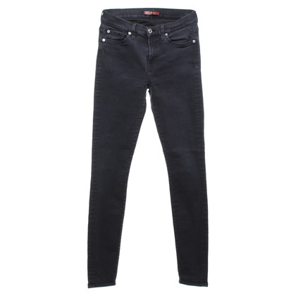 7 For All Mankind Jeans in Dunkelgrau