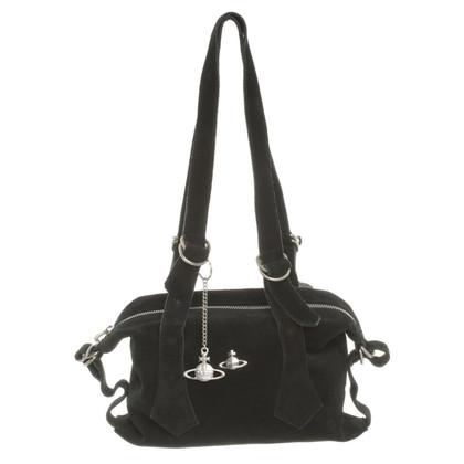 Vivienne Westwood Handtasche aus Wildleder in Schwarz