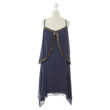 Reiss Silk dress with beaded trim