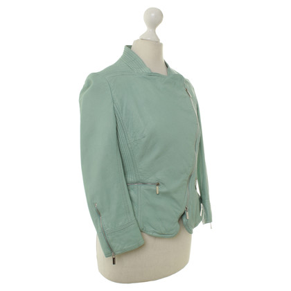 Karen Millen Leather jacket in mint
