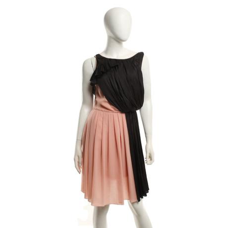 Nina Ricci Kleid in Rosa/Schwarz Rosa / Pink