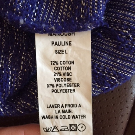 Manoush Pullover Blau Verkaufen Sind Große ls6s2
