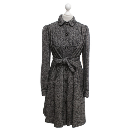 Anna Sui Coat with salt pepper pattern