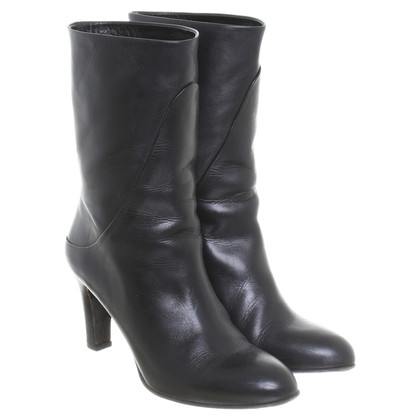 Filippa K Leather ankle boots in black