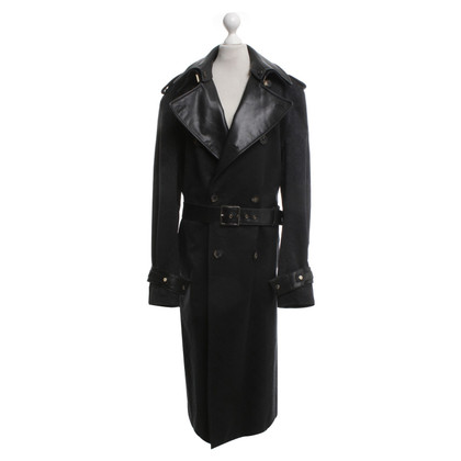 Versace Mantel in Schwarz