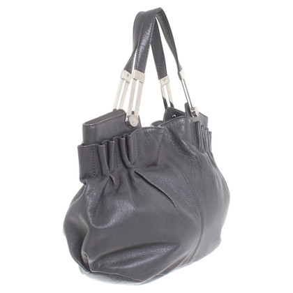 John Galliano Leder-Handtasche in Grau