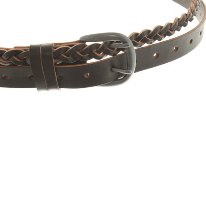 Yohji Yamamoto Leather belt in black