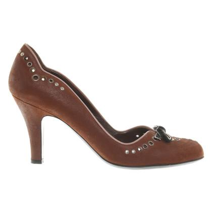 Prada pumps in brown