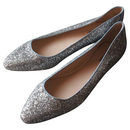 Bottega Veneta Glitter finish ballet Flats