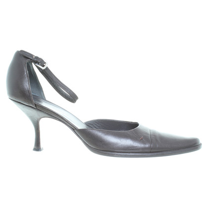 Jil Sander pumps in marrone scuro