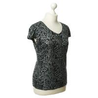 Armani Collezioni Zwarte Top met glitter details