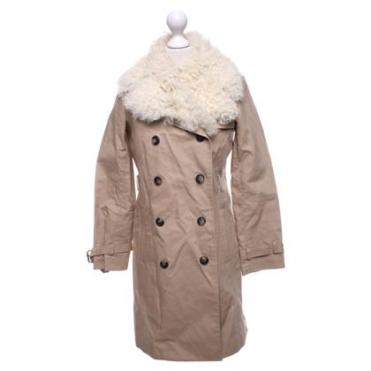 Tory Burch Manteau avec garniture en peau de mouton