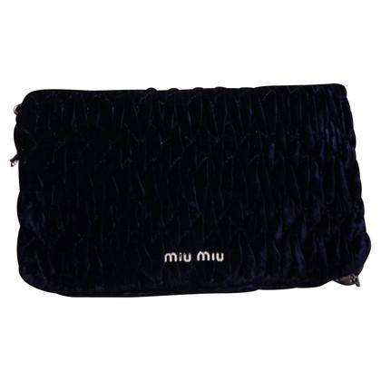 Miu Miu clutch of velvet