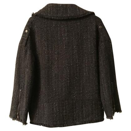 Erika Cavallini Woolen jacket with zipper