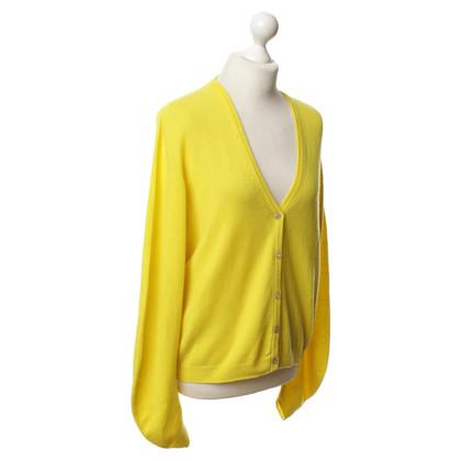 Jil Sander Cardigan di cashmere in giallo