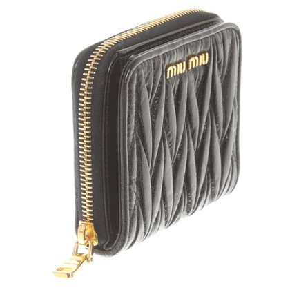 "Miu Miu ""Portafoglio Pattina Matelassé"" wallet in black"