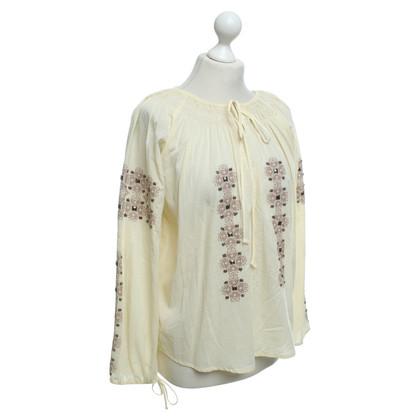 Haute Hippie Blusa in crema