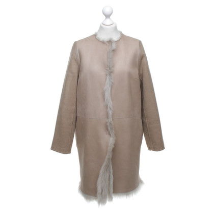 Yves Salomon Reversible fur coat in light brown