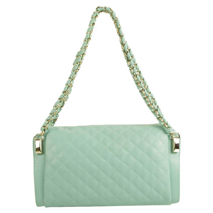 "Moschino Love ""Sky Blue Diamond Flap Bag"""