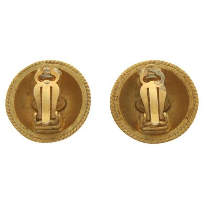 Chanel Orecchini a clip color oro antico