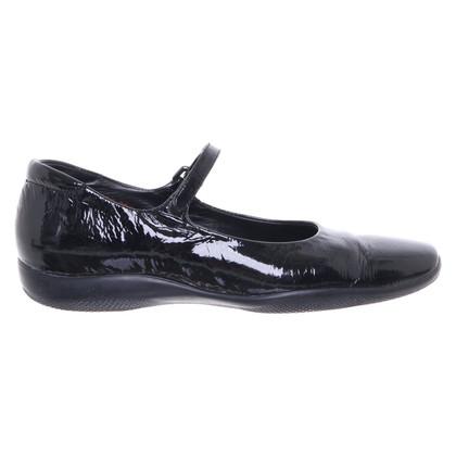 Prada Patent leather ballerinas in black
