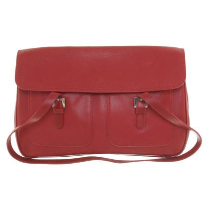 Longchamp Borsa di cuoio rosso