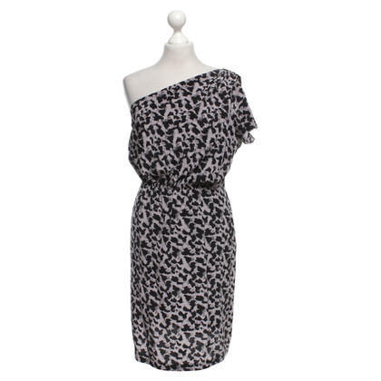 Cynthia Vincent  Silk dress with pattern