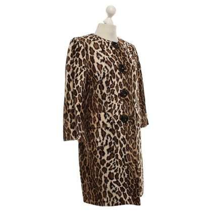 Piu & Piu Coat of leopard faux fur