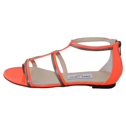 "Jimmy Choo ""Neon metallic"" sandal"