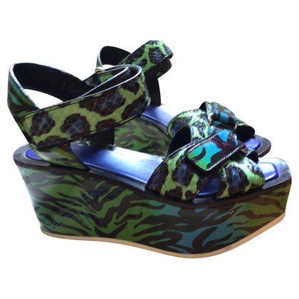 Kenzo Exotic leather platform sandals