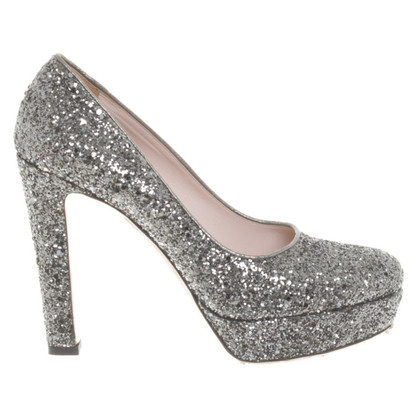 Miu Miu Shimmering pumps in silver