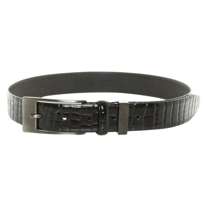 Versace Leather belt in black