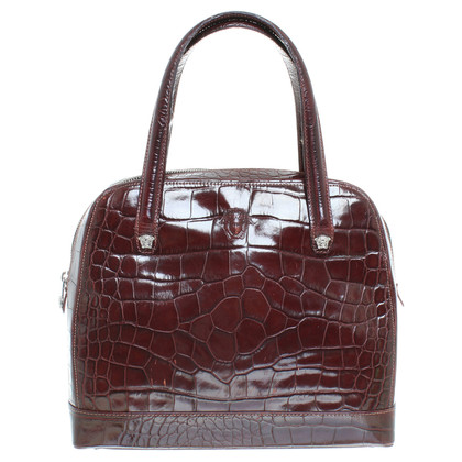 Gianni Versace Tasche in Reptilleder-Optik