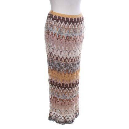 Missoni Gebreide rok met patroon