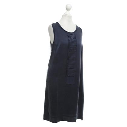 Strenesse Blue Robe en soie bleue