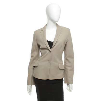 Strenesse Leather blazer in beige