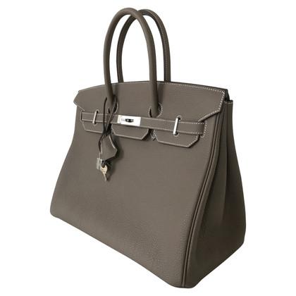 "Hermès ""Birkin Bag 35 Togo leather Etoupe"" custom-made"