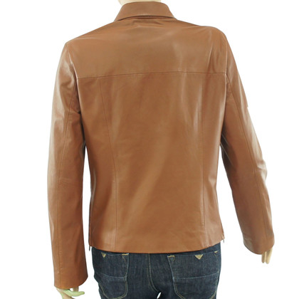 Hugo Boss Brown Biker Jacket