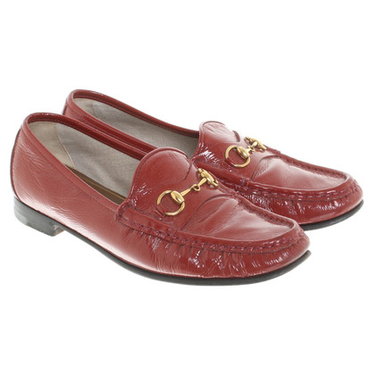 Gucci Patent leather red loafers