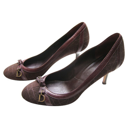 Christian Dior pumps in donkerbruin