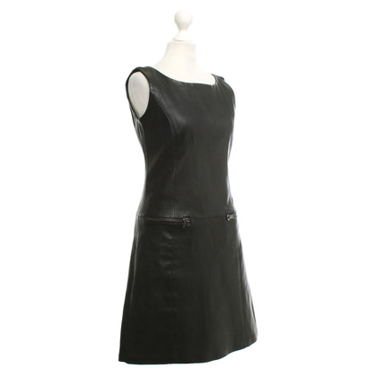 Vent Couvert Leather dress in black