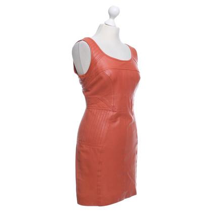Hoss Intropia Leather dress in orange