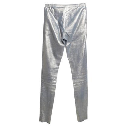 Utzon Hose mit Metallic-Beschichtung