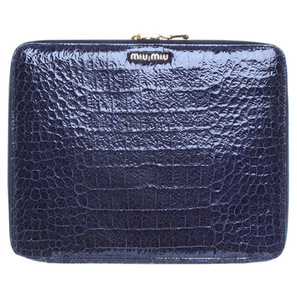 Miu Miu Custodia IPad in blu