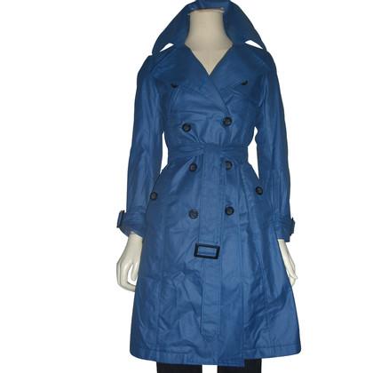 Bruuns Bazaar Blauer Trenchcoat