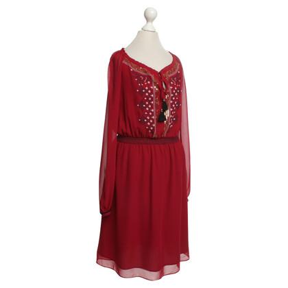 Altuzarra Burgundy dress in Indian style