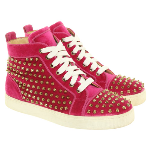 45bec0acaf6 Christian Louboutin Sneakers in fuchsia - Second Hand Christian ...