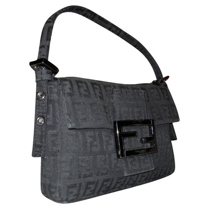 Fendi Mini Baguette Black Marrow