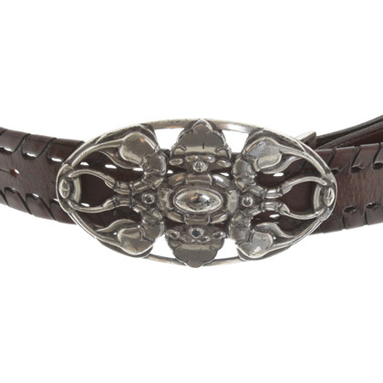 Reptile's House Leather belt in brown
