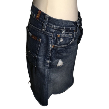 7 For All Mankind Afgewassen denim rok